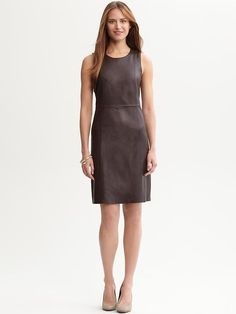 Chocolate Brown Leather Dress