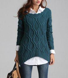 Вязаный женский свитер (121 фото) 2016: крупной вязки, модели, грубой вязки, реглан, толстой вязки, красивые, модные