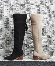 Suede over-the-knee tassel boots | Sole Society Erika