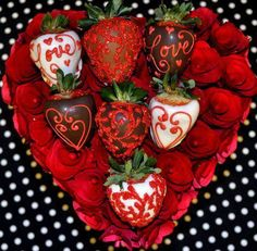 Valentine's Day Special! Half Dozen Roses & Half Dozen Amy's Apples Chocolate Covered Strawberries Elegantly Boxed for $49.99!!!