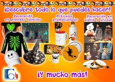 ¡Descubre todo lo que puedes hacer en Halloween! Lo que necesitas para decorar playeras, promocionales, copas y más.