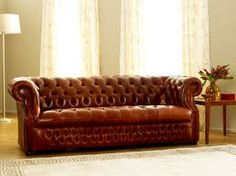 Leather Armchair Chesterfield Sofa Bed And