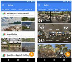Google Street View (Android-iOS), nueva app para explorar, capturar fotos esféricas y compartir en Google Maps