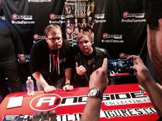 .@TheDeanAmbrose snaps photos with WWE Universe members at #RingsideFest.