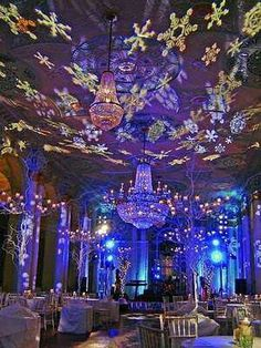 blue violet led light party holiday parties holiday party themes winter parties corporate