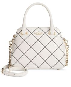 With just enough room for your phone, lipstick and a few other essentials, kate spade new york's petite Maise bag makes the most of its mini silhouette in chic quilted leather with 14k gold-plated har