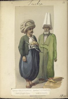 Guard of the Armoury and Colonel of the Armoury. The Vinkhuijzen collection of military uniforms / Turkey, See McLean's Turkish Army of Turkish Military, Turkish Army, Military Costumes, Military Uniforms, Turkish Soldiers, Ottoman Turks, Sweet Butter, Cultural Studies, Ottoman Empire