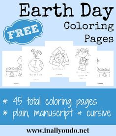 Do you have little ones who like to color? Why not grab this printable pack so that they can color while you teach them about Earth Day?   >>>>>>>>Click Here To Downloa...