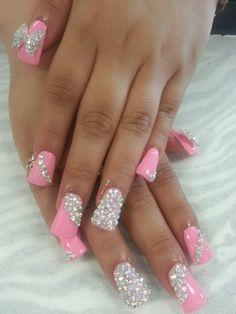Pink duck bills