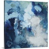Found it at Wayfair - 'Blu Flo' by Randy Hibberd Painting Print on Canvas