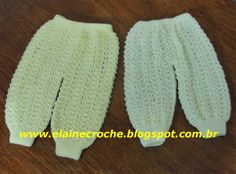 Elaine Tricô: Calças em Tricô para Bebês - Enxoval das Gêmeas