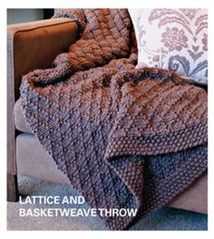 Lattice And Basketweave Throw - Free Knitted Pattern - (au.lifestyle.yahoo)