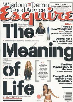 Esquire magazine The meaning of Life Barack Obama Evangeline Lilly Jai Courtney
