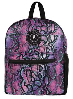 Stand Out With Tikiboo's Petrol Python Rucksack Flaunting Gorgeous Tones Of Purple, Turquoise And Black. Mesmerising And Unique, These Petrol Python Scales Will Protect Your Belongings At The Gym, In Work Or At School. Gym Bags, Hand Luggage, Vera Bradley Backpack, Python, Bobs, Fashion Backpack, Zip Ups, Pouch, Backpacks