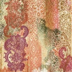 Timeless Treasures Indian Summer Multi Tapestry Stripe
