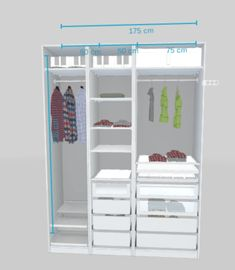 Home & Garden Bedroom Closet Design, Bedroom Wardrobe, Bedroom Decor, Bedroom Ideas, Best Ikea, Cute Room Decor, Kids Wardrobe, Dressing Room, Diy Kleidung