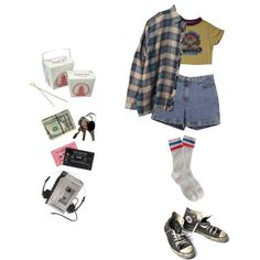 Take Out by mcmondays on Polyvore featuring UNIF, Ann Taylor, J.Crew and Converse