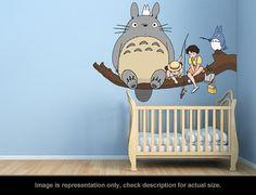 Totoro Inspired  Totoro Fishing Wall Art Applique par carl895