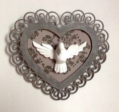 by ronda Frame Wall Decor, Frames On Wall, Catholic Altar, Arts And Crafts, Diy Crafts, Bar Interior, Altered Boxes, Wooden Crafts, Country Chic
