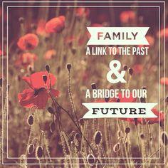 """""""La famiglia è un collegamento con il nostro passato e un ponte verso il nostro futuro."""" - A. Haley - #cit #citazione #quote #famiglia #family #natura #love"""