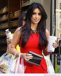 Kim Kardashian sweet red dress