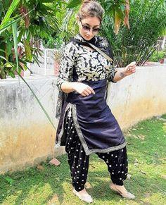 Designer Punjabi Suits, Patiala Salwar, Indian Dresses, Indian Beauty, Harem Pants, Kimono Top, Instagram Posts, Beautiful, Girls