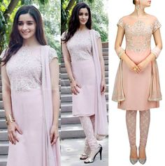 GET THIS LOOK: Alia Bhatt looks stunning in this soft pink embroidered kurta set by Malasa. Shop the designer now at: http://www.perniaspopupshop.com/ #perniaspopupshop #AliaBhatt #softpink #embroidered #kurtaset #designer #label #love #Malasa #beautiful #aesthetic #gorgeous #glamorous #happyshopping