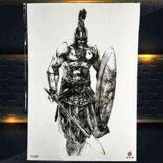 Fake Tattoos, Temporary Tattoos, Black Tattoos, Body Art Tattoos, Tattoos For Guys, Spartan Warrior, Bigger Arms, Mountain Designs, Diy For Men
