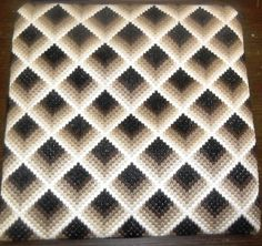 Bargello black and white vervaco kit para bordar – Artofit Bargello Patterns, Bargello Needlepoint, Tapestry Crochet Patterns, Bargello Quilts, Crochet Square Patterns, Crochet Quilt, Needlepoint Stitches, Crochet Squares, Crochet Motif