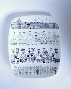 "Arabia Finland ""Emilia"" by Raija Uosikkinen For Sale Fine Porcelain, Ceramic Painting, Scandinavian Design, Retro Vintage, My Etsy Shop, Pottery, My Love, Modern, Clay"