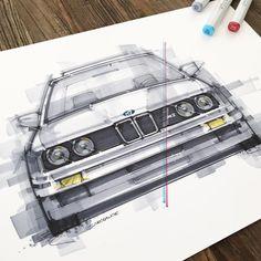 "1,079 Me gusta, 11 comentarios - Graham Allan (@livedrawdie) en Instagram: ""BMW E30 M3 #drivetasefully"""