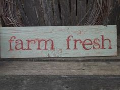 Rustic sign from reclaimed wood