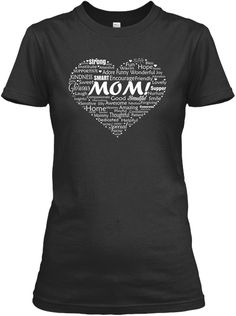 Mom In Heart Mothers Day Tshirt For Girl Black Women's T-Shirt Front