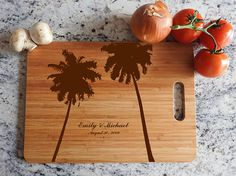personalized cutting board hawaii island honeymoon we Wedding Anniversary Gifts, Wedding Gifts, Wedding Vows That Make You Cry, Green Mason Jars, Personalized Cutting Board, Wall Decor Stickers, Elegant Flowers, Rustic Elegance, Wedding Centerpieces