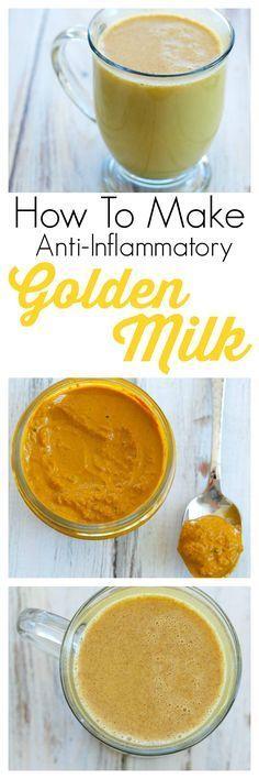 Wie Goldene Milch und Kurkuma Paste zu machen!  Dies ist ein super einfaches Rezept für die Herstellung von Kurkuma Tee (Goldene Milch), die ein leistungsstarkes Anti-Entzündung Getränk ist!  Trinken Sie das Arthritis Schmerzen zu lindern und so viel mehr!  Die gesundheitlichen Vorteile von Kurkuma sind umfangreich.