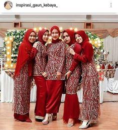 Party Gowns, Party Dress, Hijab Style Dress, Wedding Hijab, Kebaya, Bridesmaid Dresses, Bridesmaids, Hijab Fashion, Brokat