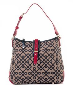 Another great find on #zulily! Navy & Beige 1715 Buckle Hobo by Spartina 449 #zulilyfinds