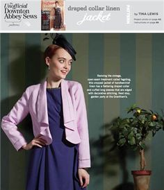 DRAPED COLLAR LINEN JACKET: Free Sewing Pattern - Sew Daily