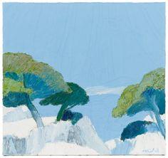Roger Mühl, Iles de Lerins, Oil on Canvas : Lot 964. Estimated $8,000-$12,000