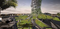 The Graft Tower is a Parametric Eco-Hotel and Vertical Farm in Puerto Rico