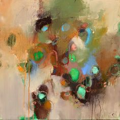 Matteo Cassina - 'Green Lights' #abstract #abstractart #abstractpainting #abstractexpressionism #expressionism #expressionist