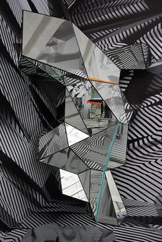Tobias Rehberger at Schirn Kunsthalle Frankfurt 'home and away and outside' Mirror Illusion, Illusion Art, Mural Cafe, Tobias Rehberger, Tape Art, Mirror Art, Cassette Tape, Installation Art, Mockingjay