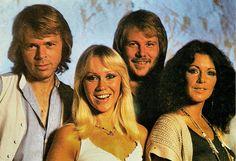 ABBA. Swedish postcard by Ultraförlaget A.B., Stockholm, no. 28 - 012. Photo: Torbjörn Calvero.