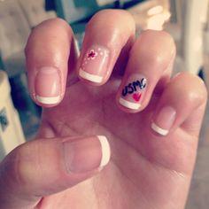 This is what I do at work, reppin' my boy! Usmc nails (but navy of course) Diy Nails, Cute Nails, Pretty Nails, Usmc Nails, Usmc Love, Marine Corps Ball, Heart Nail Art, Marine Mom, Acrylic Nails