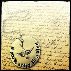 The Notebook inspired hand stamped necklace with by TheLullabyLeaf