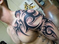 tribal tattoos for men shoulder and arm - Google Search