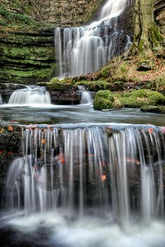 Force Steps by Chris Frost ✯ Stunning Scaleber Force falls near Settle in the Yorkshire Dales National Park - UK✯ Stunning Scaleber Force falls near Settle in the Yorkshire Dales National Park - UK Beautiful Waterfalls, Beautiful Landscapes, Places To Travel, Places To See, Beautiful World, Beautiful Places, Parque Natural, Yorkshire Dales, North Yorkshire