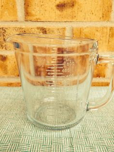 Marinex blue tinted 2 Cup Glass Measuring Cup on Etsy, $9.95