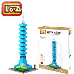 LOZ Diamond Blocks 3D Building-Taipei 101 390pcs - LOZ Diamond Blocks 3D Building-Campaign Categories - TopBuy.com.au