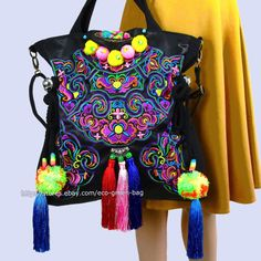 18f1e79194dd Vintage Hmong Tribal Ethnic Thai Indian Boho shoulder bag messenger purse  hobo tote bag for women embroidery